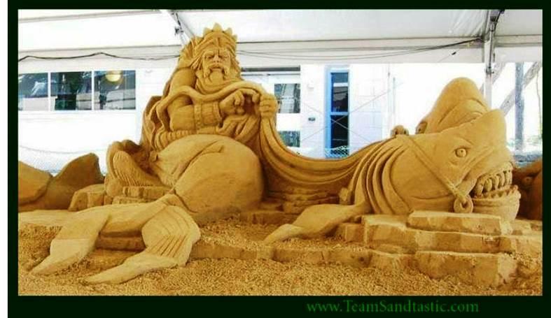 1 Team Sandastic Sand Sculpture